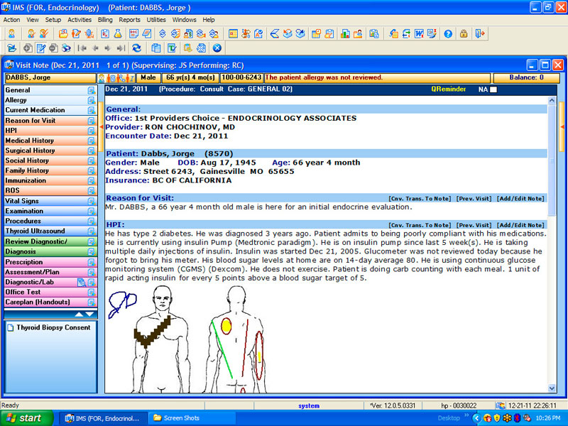 free emr templates endocrinology electronic health record solution 1st